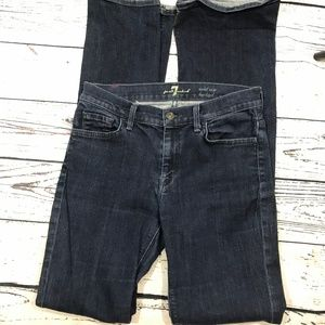 7 For All Mankind Bootcut Dark Mid Rise (29) 👖